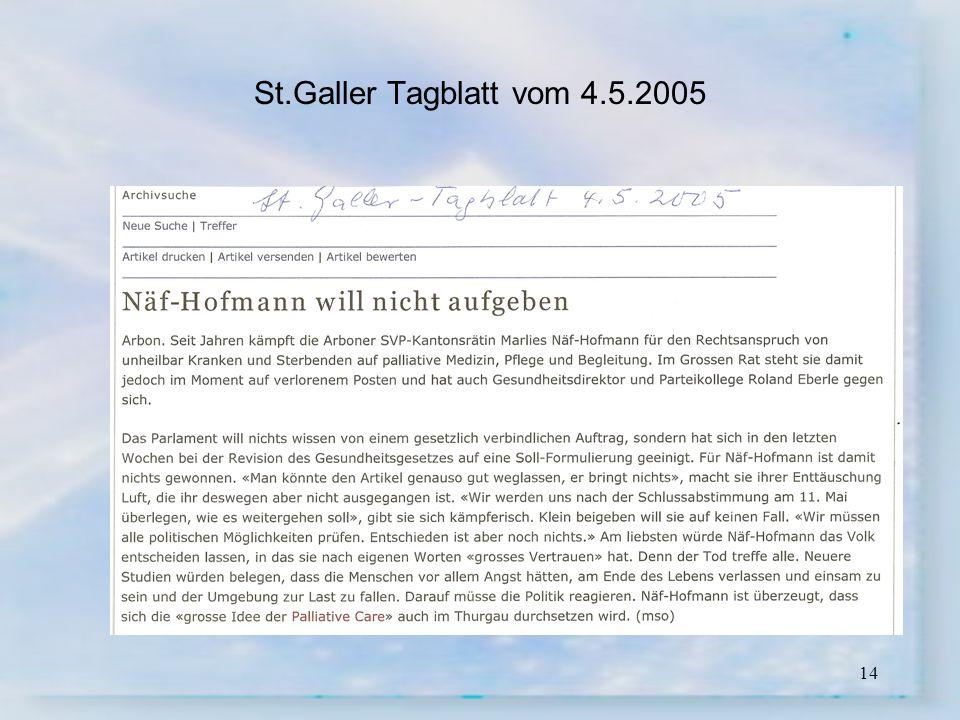 14 St.Galler Tagblatt vom 4.5.2005