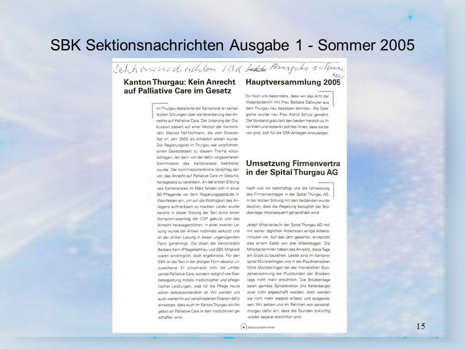 15 SBK Sektionsnachrichten Ausgabe 1 - Sommer 2005