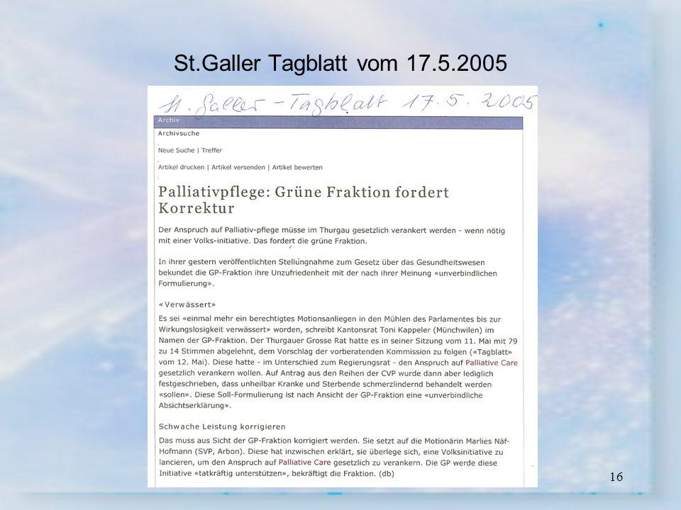 16 St.Galler Tagblatt vom 17.5.2005