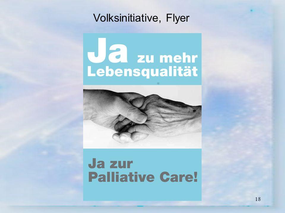 18 Volksinitiative, Flyer