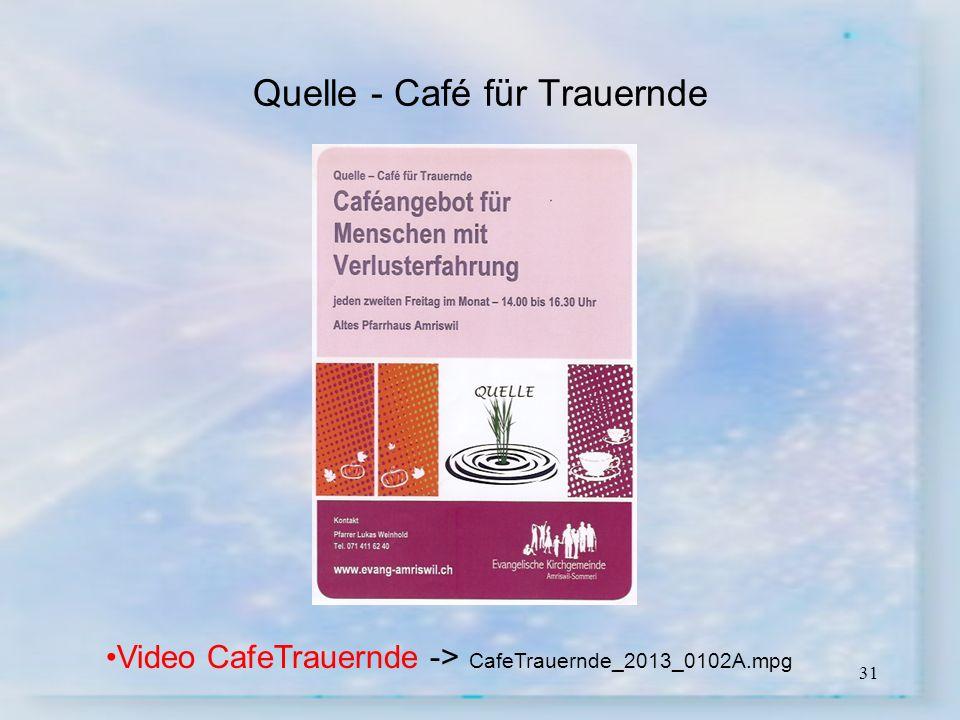 31 Quelle - Café für Trauernde Video CafeTrauernde -> CafeTrauernde_2013_0102A.mpg