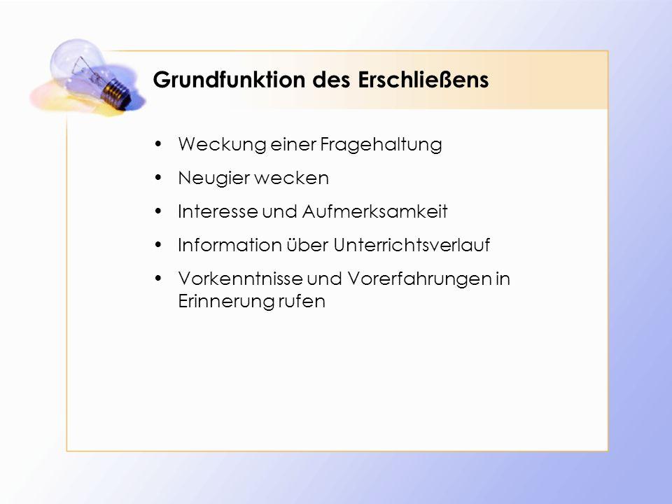 Lehrerzentrierte anschauliche Unterrichtseinstiege Interview Befragung von Experten wie z.B.