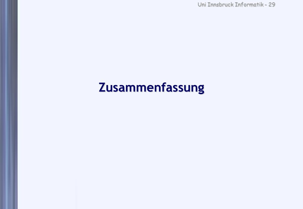 Uni Innsbruck Informatik - 29 Zusammenfassung