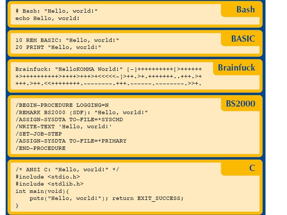 class HelloWorldApp { public static void main(String[] args) { System.out.println( Hello World! ); } Programmieren - wie einsteigen ?