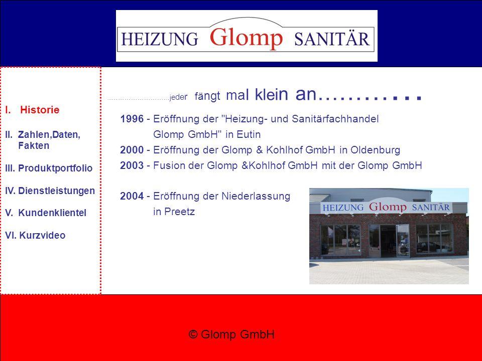 1 Geschäftsführer: Michael Glomp 2 LKWs 3 Niederlassungen 22 Mitarbeiter 36.000 installierte PV-Module © Glomp GmbH I.