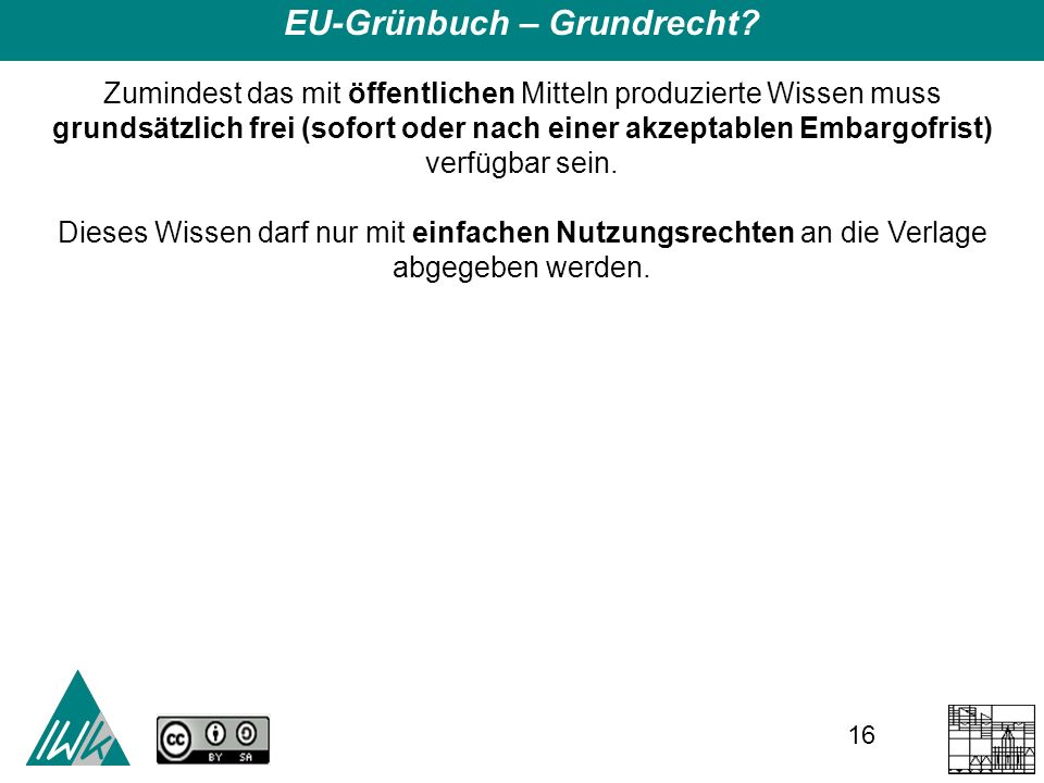 16 EU-Grünbuch – Grundrecht.