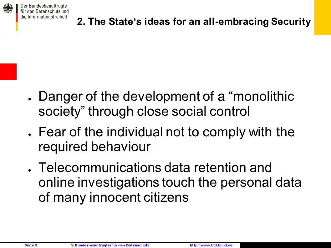 Seite 5 © Bundesbeauftragter für den Datenschutzhttp://www.bfd.bund.de 2.