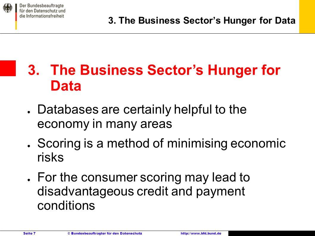 Seite 7 © Bundesbeauftragter für den Datenschutzhttp://www.bfd.bund.de 3.