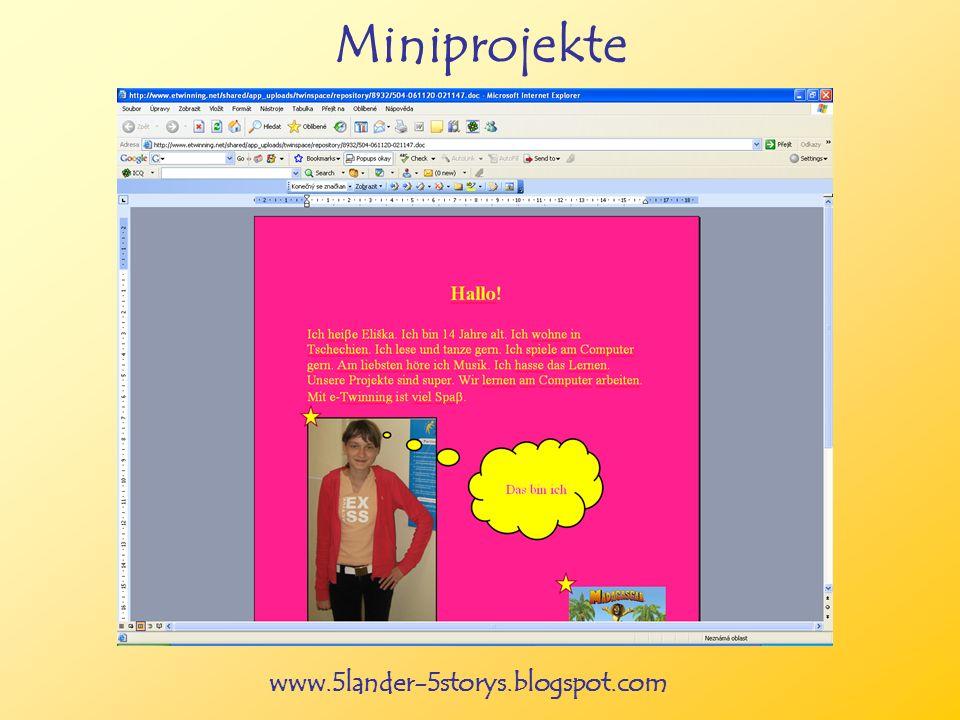 www.5lander-5storys.blogspot.com Miniprojekte