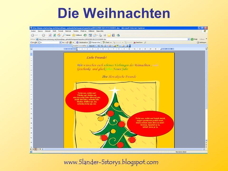 www.5lander-5storys.blogspot.com Die Weihnachten