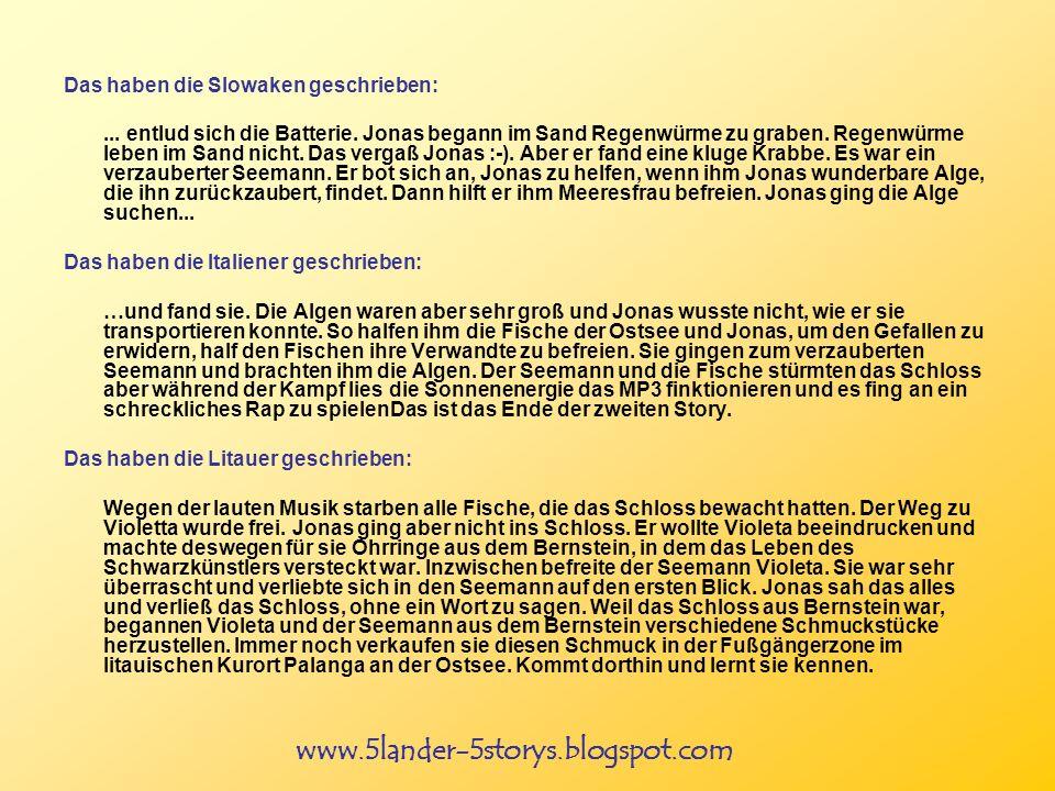 www.5lander-5storys.blogspot.com Das haben die Slowaken geschrieben:...