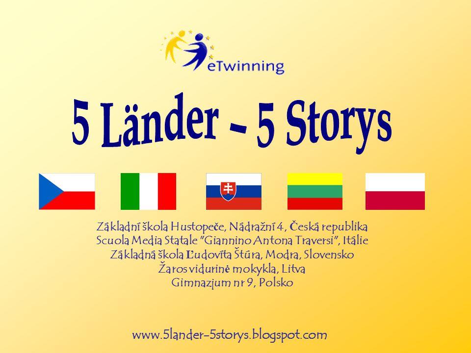 www.5lander-5storys.blogspot.com Základní škola Hustope č e, Nádražní 4, Č eská republika Scuola Media Statale