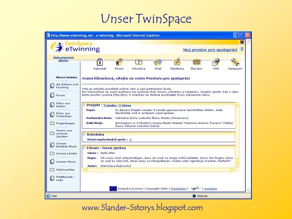 www.5lander-5storys.blogspot.com Unser TwinSpace