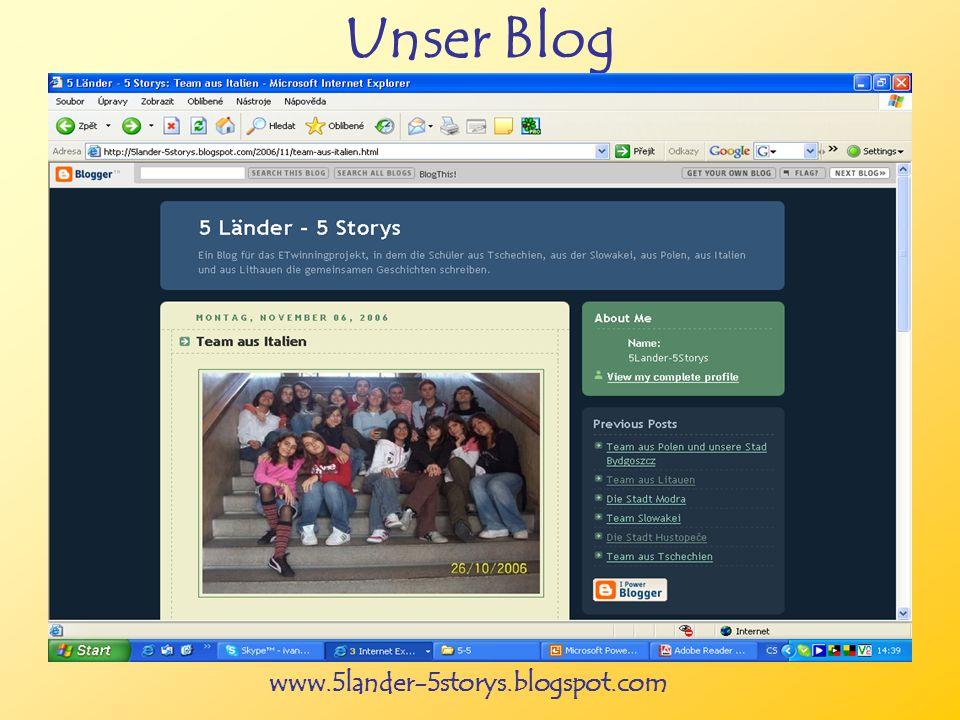 www.5lander-5storys.blogspot.com Unser Blog