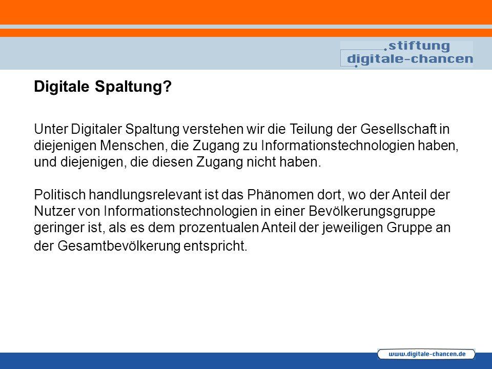 Digitale Spaltung.