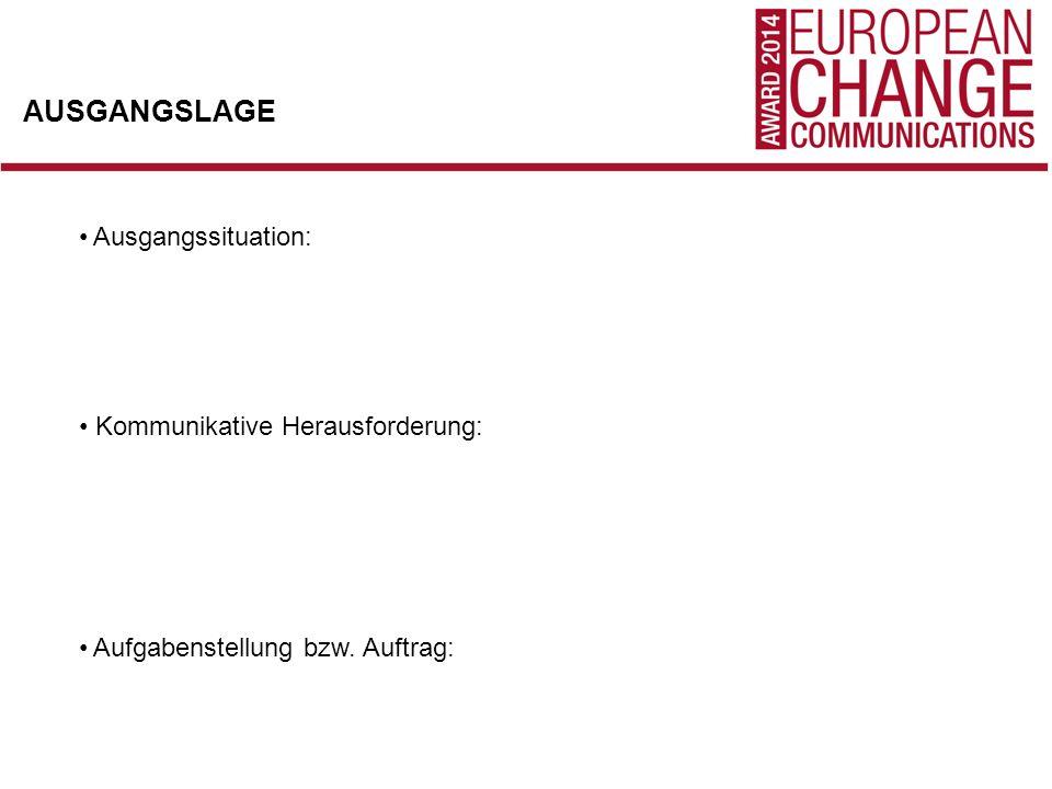 KOMMUNIKATIONSZIEL Strategischer Ansatz: Vorgehensweise / Wirkungsansatz: Ausgewählte Zielgruppen: Schlüsselbotschaften: