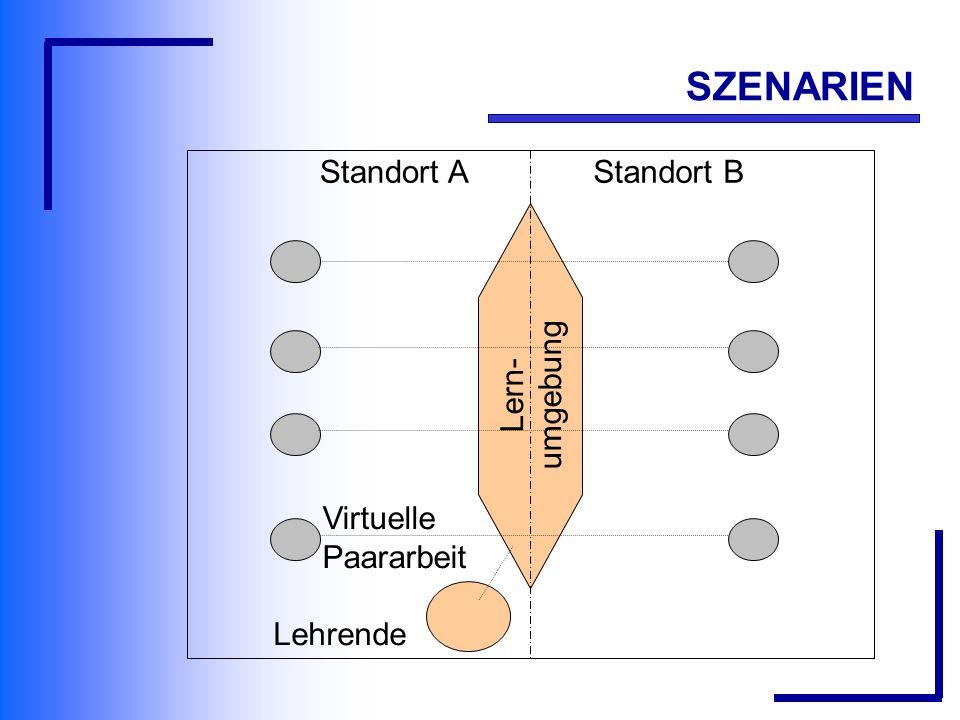 Lern- umgebung Lehrende Virtuelle Paararbeit Standort AStandort B SZENARIEN