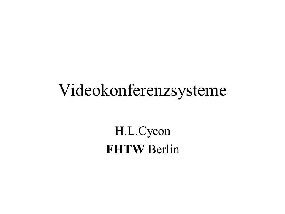 VideoKonferenzsysteme12 Grundproblem Video Daten sind extrem datenintensiv, z.B.: –eine CIF (352*288) Sequenz erzeugt einen Datenstrom von ca.