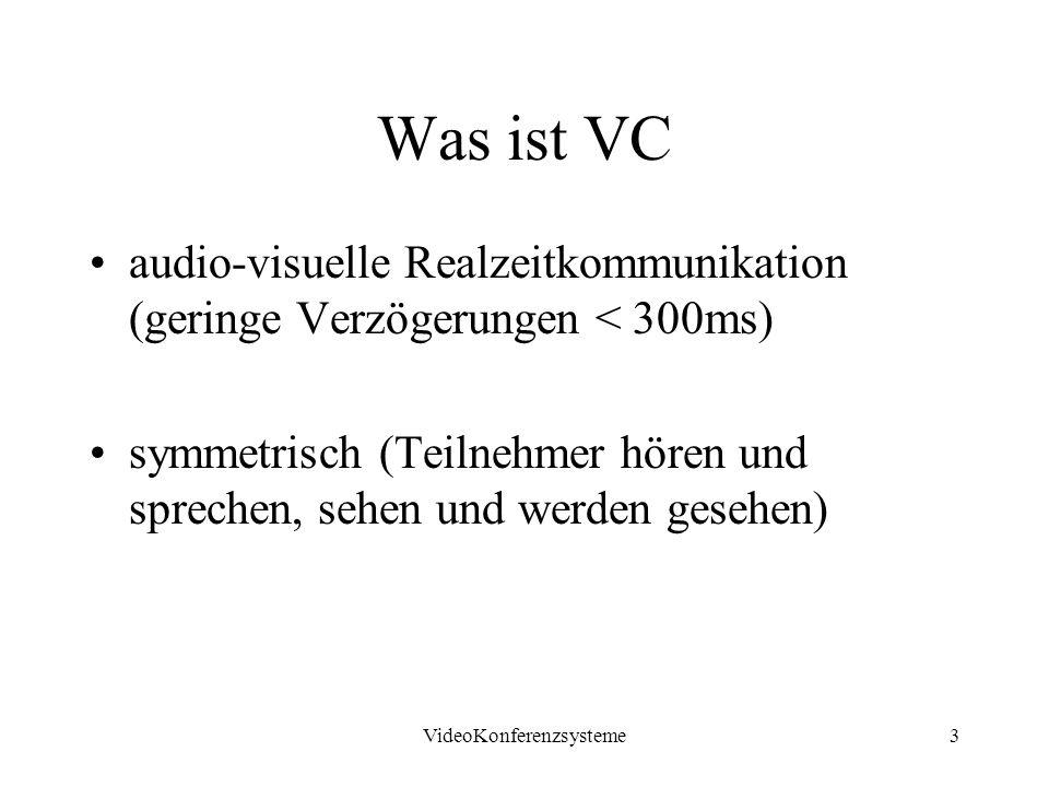 VideoKonferenzsysteme4 Videokonferenzsystem Klassen Desktop Systeme (DVC) <1000 DM –PC+Audio/ Video Peripherie Set Top Systeme 3...8 TDM –TV Gerät + Kamera/ Mikrofon Rollabout Systeme10...50TDM –A/V Equipment auf Rollen Room Systeme 50 T...1M DM –fest installierte VC Studios