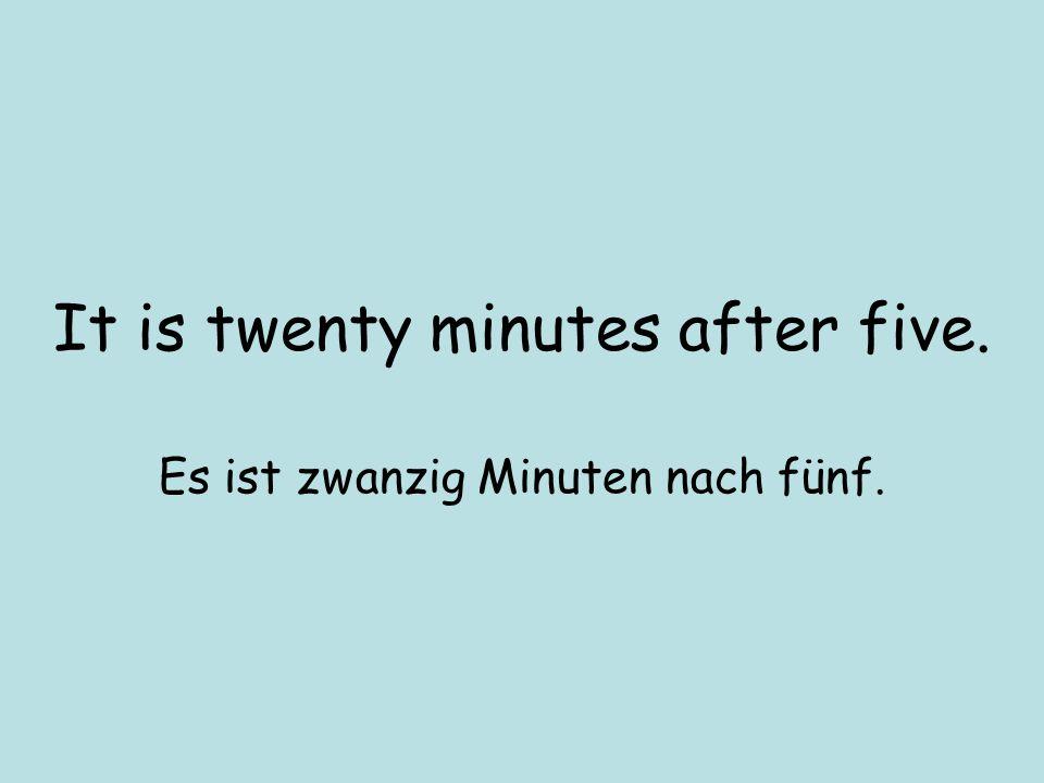 OVS du / um halb neun / gehen / nach Deutschland Um halb neun gehst du nach Deutschland.