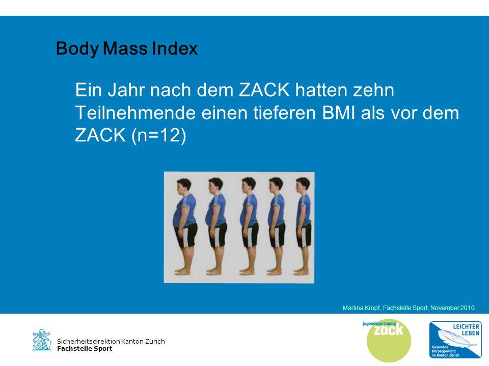 Sicherheitsdirektion Kanton Zürich Fachstelle Sport Sportaktivität in der Freizeit Martina Kropf, Fachstelle Sport, November 2010