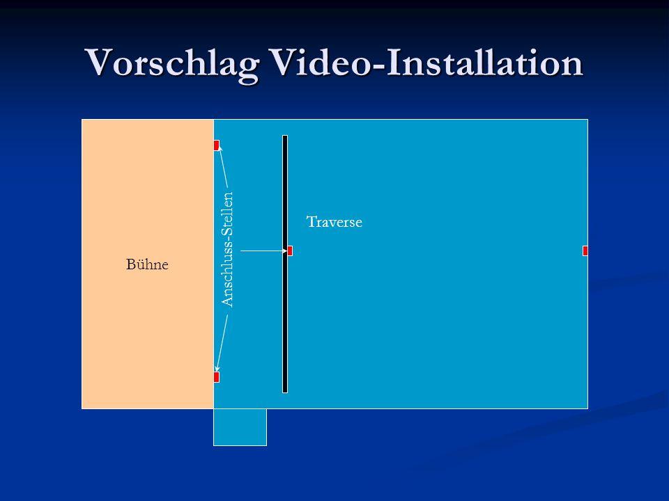 Vorschlag Video-Installation Bühne Traverse Anschluss-Stellen