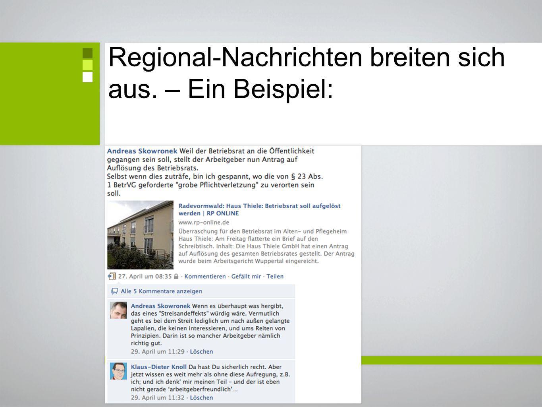 Regional-Nachrichten breiten sich aus. – Ein Beispiel:
