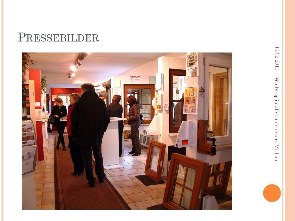 P RESSEBILDER 14.02.2011 Werbung in alten und neuen Medien