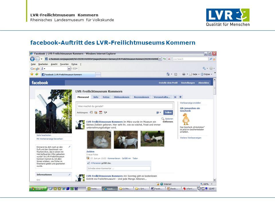 LVR-Freilichtmuseum Kommern Rheinisches Landesmuseum für Volkskunde facebook-Auftritt des LVR-Freilichtmuseums Kommern