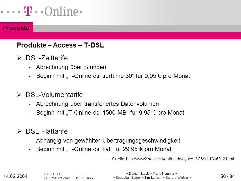 ~ IEB ~ EB 1 ~ ~ Hr. Prof. Weidner ~ Hr. Dr. Tripp ~ 14.02.2004 ~ Daniel Nauck ~ Frank Kemnitz ~ ~ Sebastian Zeiger ~ Tim Lankeit ~ Sandra Winkler ~ 5