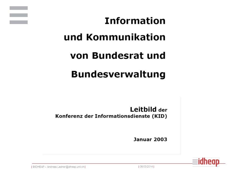 | ©IDHEAP – Andreas.Ladner@idheap.unil.ch | | 06/03/2014 | Aufschwung der parteieigenen Organe