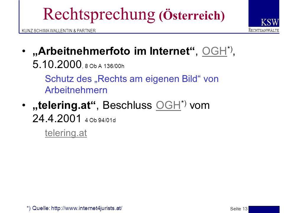 KUNZ SCHIMA WALLENTIN & PARTNER Rechtsprechung (Österreich) Radio Melody OGH *) Urteil vom 26.1.1999, 4 Ob 345/98h –Speicherung auf Festplatte = Vervi