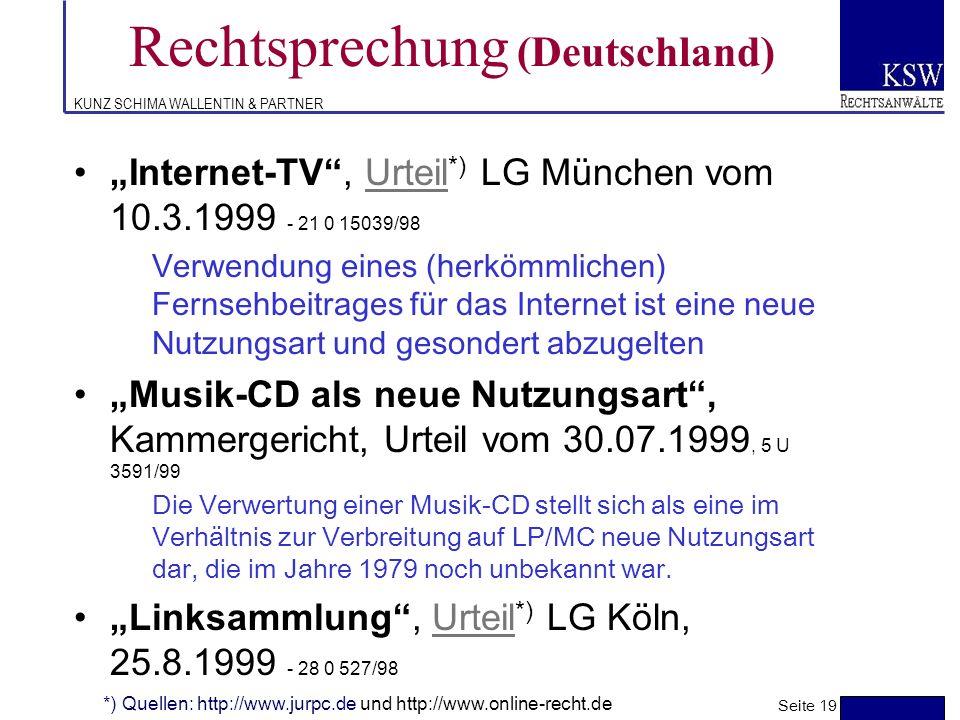 KUNZ SCHIMA WALLENTIN & PARTNER Rechtsprechung (Deutschland) Fotographien, Urteil *) des Hanseatischen OLG vom 5.11.1998 - 3 U 212/97Urteil Im Spiegel