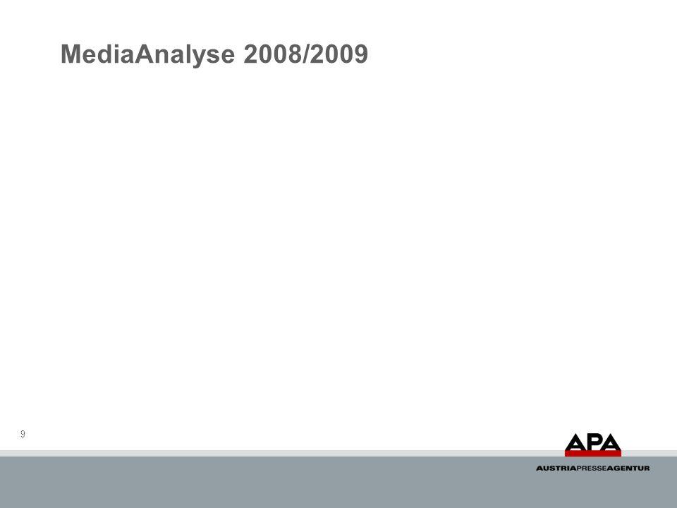 MediaAnalyse 2008/2009 9