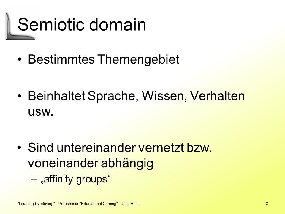 Learning-by-playing - Proseminar Educational Gaming - Jens Holze34 Sozialer Kontext Droht Vereinsamung.