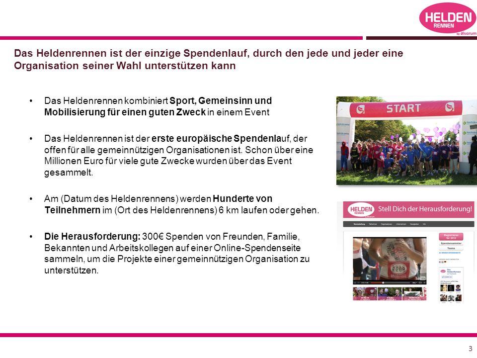 Das Heldenrennen kombiniert Sport, Gemeinsinn und Mobilisierung für einen guten Zweck in einem Event Das Heldenrennen ist der erste europäische Spendenlauf, der offen für alle gemeinnützigen Organisationen ist.