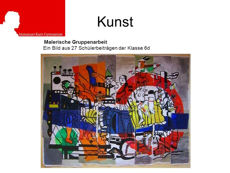 Kunst Malerische Gruppenarbeit Ein Bild aus 27 Schülerbeiträgen der Klasse 6d