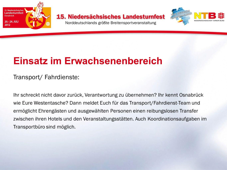 Transport/ Fahrdienste: Ihr schreckt nicht davor zurück, Verantwortung zu übernehmen? Ihr kennt Osnabrück wie Eure Westentasche? Dann meldet Euch für