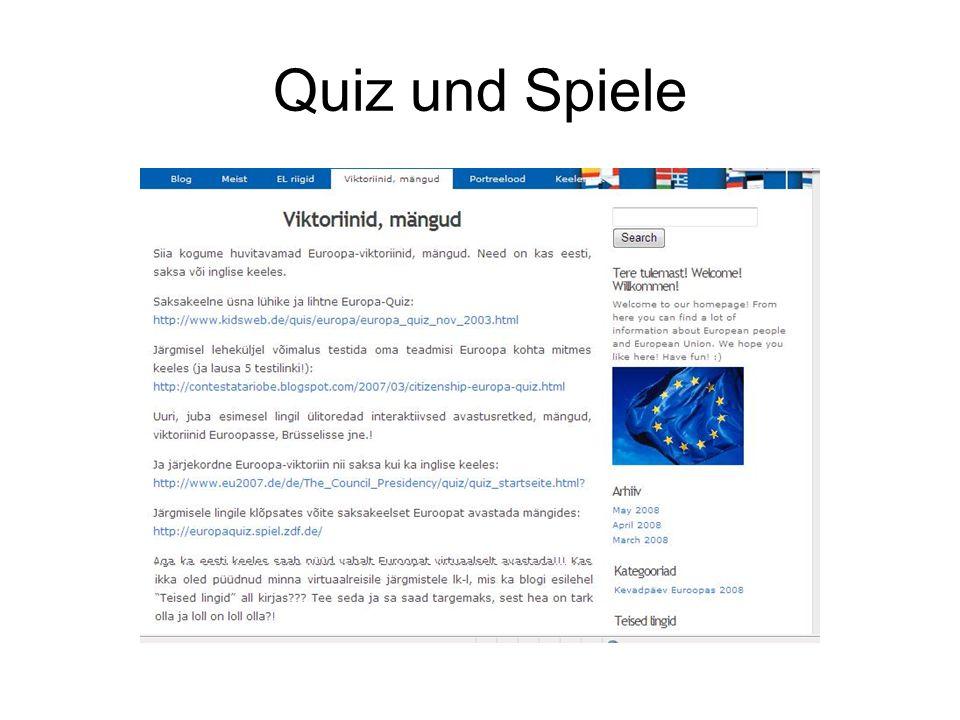 Quiz und Spiele