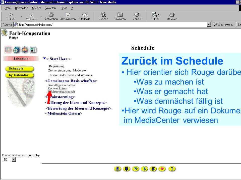 Problem Kollaboration Lernen elernen telecolonline Learning Space telecol online Präsentation vom 7.2.2001 40 von 50 24.02.2001 Persönliche Seite von Rouge Foto Lernhintergrund pers.