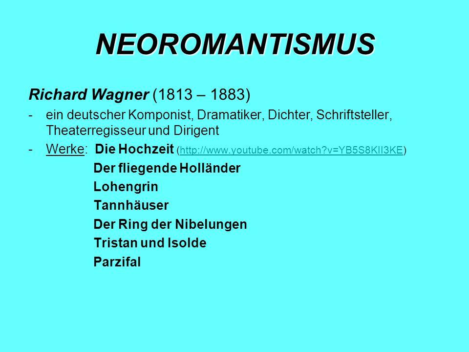 MODERNE MUSIK bis 1914 erscheint der Expressionismus in der Kunst nach dem Ersten Weltkrieg wird in der Musik experimentiert, nach dem Zweiten Weltkrieg tritt die elektronische Musik ihren Weg an Österreich wurde im 19.