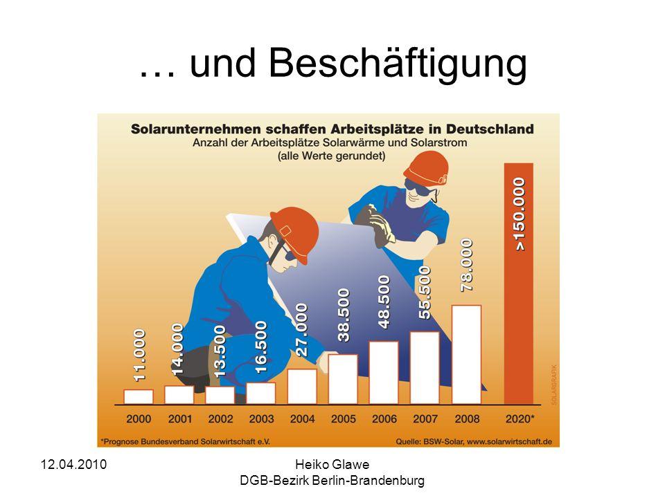 12.04.2010Heiko Glawe DGB-Bezirk Berlin-Brandenburg … und Beschäftigung