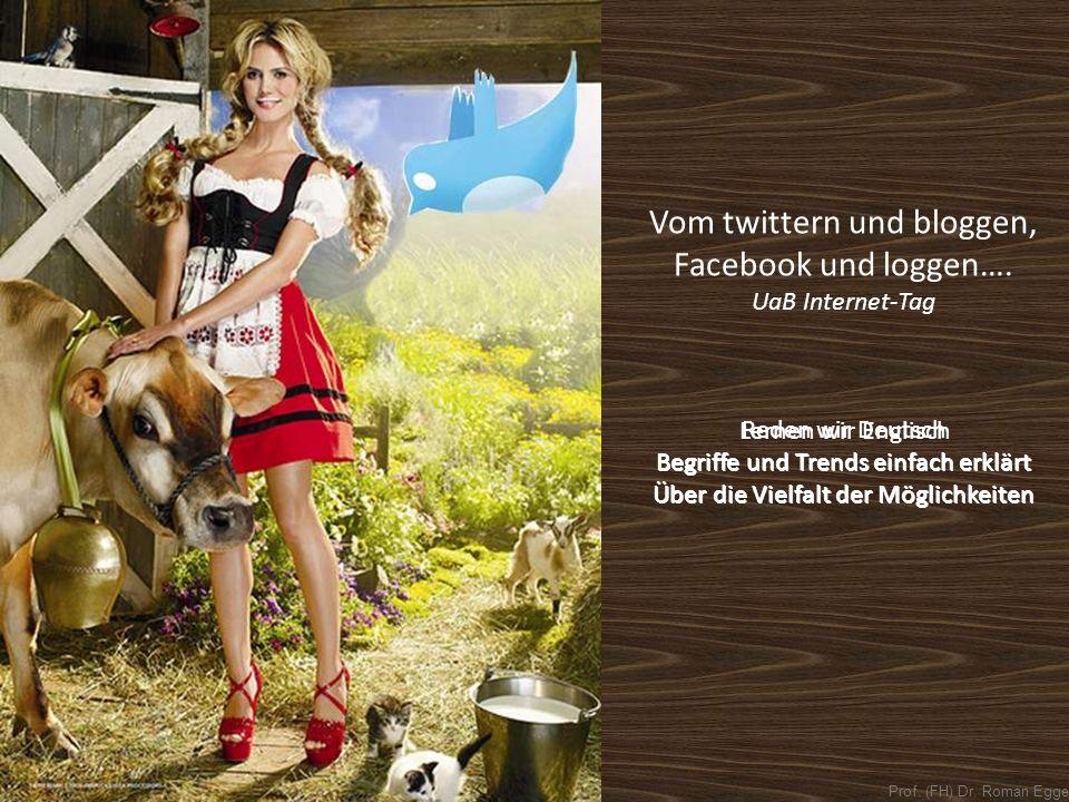 Prof.(FH) Dr. Roman Egger Vom twittern und bloggen, Facebook und loggen….