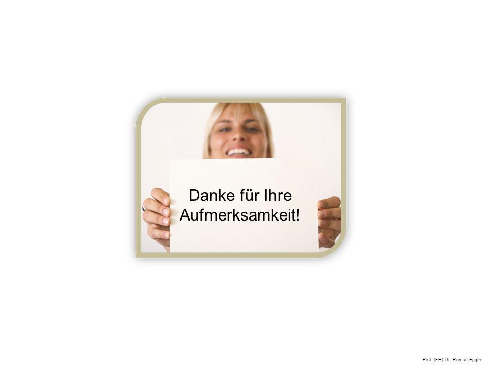 Prof. (FH) Dr. Roman Egger Danke für Ihre Aufmerksamkeit!