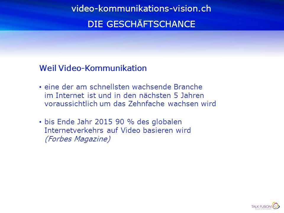 warum? video-kommunikations-vision.ch DIE GESCHÄFTSCHANCE