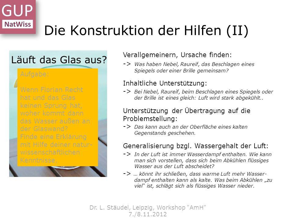 Dr. L. Stäudel, Leipzig, Workshop