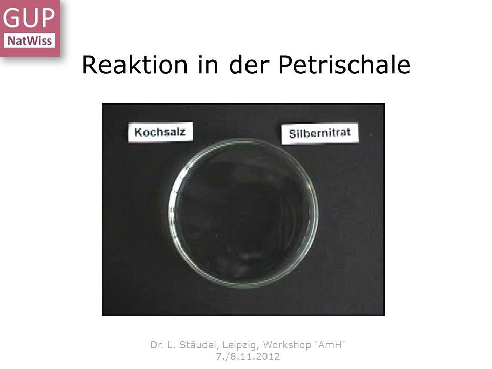 Reaktion in der Petrischale Dr.L.