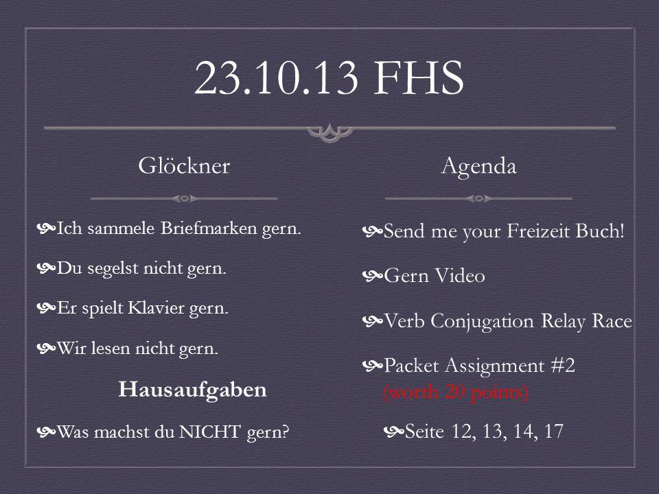 23.10.13 FHS Glöckner Ich sammele Briefmarken gern.