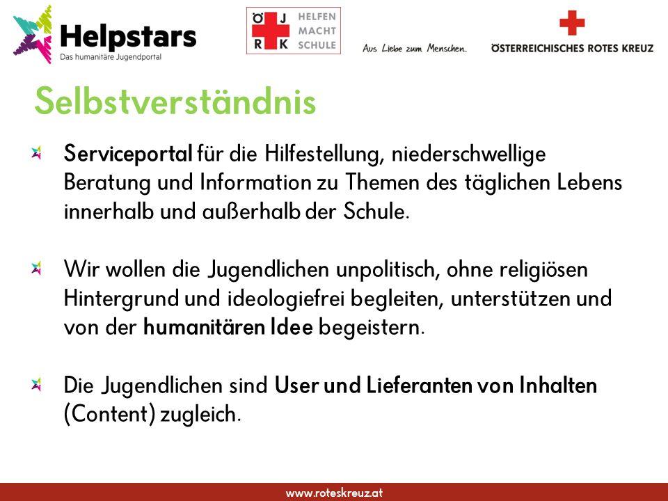 www.roteskreuz.at Selbstverständnis Serviceportal für die Hilfestellung, niederschwellige Beratung und Information zu Themen des täglichen Lebens inne