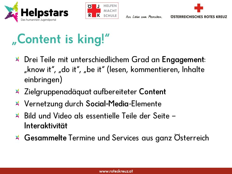 www.roteskreuz.at Content is king.